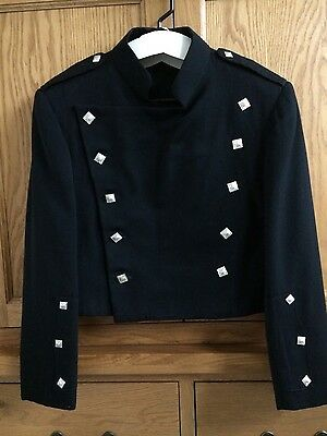 Black Montrose doublet kilt jacket - wool Small