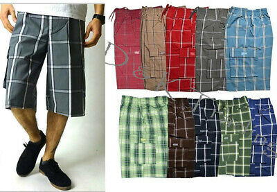 Shaka Wear Men's Checker Plaid Shorts Checkered Pants Loose Fitting Size S~5XL