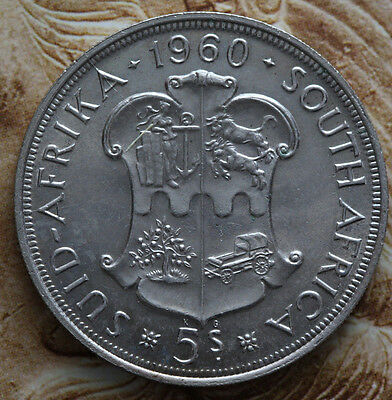 South Africa 1960 5 Shillings 50th Anniversary SA Union 38.8 mm-Foreign coin