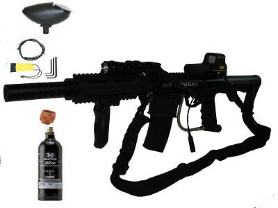 BT-4 Combat swat Paintball Marker+ mods Holographic Sight Includes FREE Co2 Tank