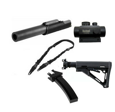 MP5 Shroud +Scope+Mag +Stock+Sling. Fits Tippmann A5 old model ( Classic Model )