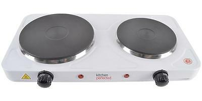 Kitchen Perfected LLoytron 2500w Double Hot Plate - White E4201wh