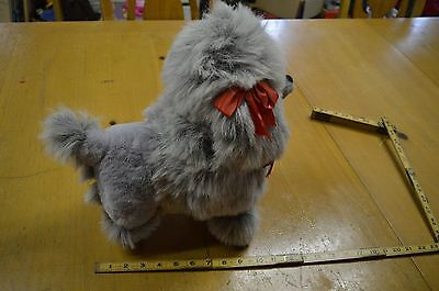Gray Poodle stuffed animal wire and styrofoam filled
