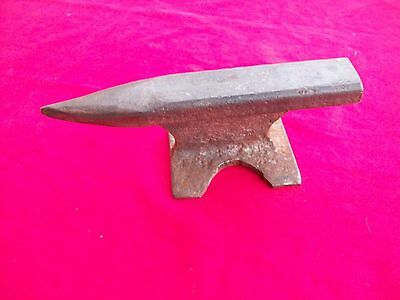 """Vintage Hand Forged Unmarked 2.2 lb. 7 1/2"""" Anvil Jewelry Gunsmith Blacksmith"""
