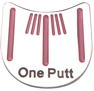 One Putt Golf Ball Marker - Package of 2-Unique Alignment Tool -Hot Pink Stripes