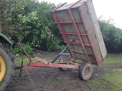 Tipping Trailer 3 Ton For Tractor, High Sides