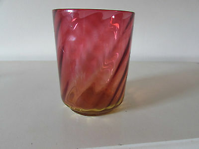 An old Cranberry glass vase