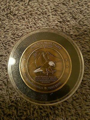 Special operations forces mess night general Schoomaker coin