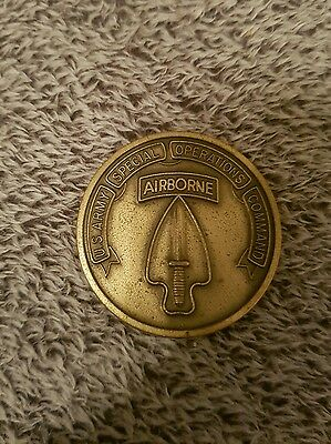 us army special operations command coin