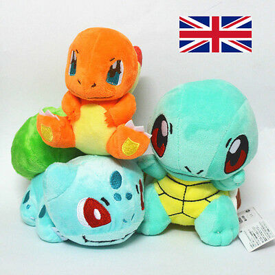 3X Bulbasaur Charmander Squirtle Plush Pokemon Soft Toy Stuffed Animal Doll 6""