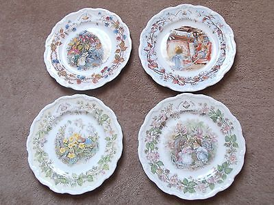 Royal Doulton Brambly Hedge Set Offour Seasons Plates  Signed Jill Barklem 1982