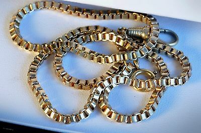 Beautiful Antique Gold filled Pocket Watch chain/ fob/17.5inch