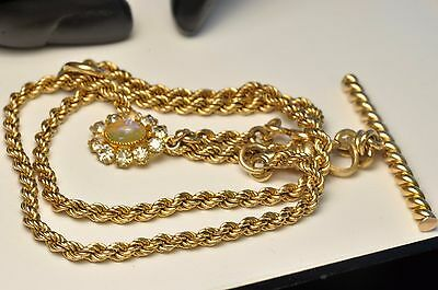 Beautiful Antique Gold filled Pocket Watch chain/ fob/16.5inch