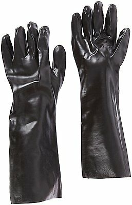 """West Chester 12018 18"""" Chemical Resistant Gloves, Large, Black Pack of 1 Pair"""
