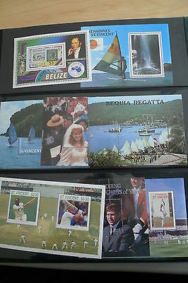 Commonwealth Beautiful Collection Of 85 Different Souvenir Sheets Mnh