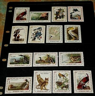 Haiti Infamous Audubon Birds,Ducks Set Of 15 To $2.50 Wild Turkey Fine M/N/H
