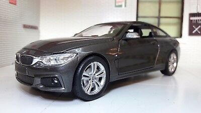 1:24 Scale Grey BMW M4 4 Series F32 71303 V Detailed New Ray Diecast Model Car