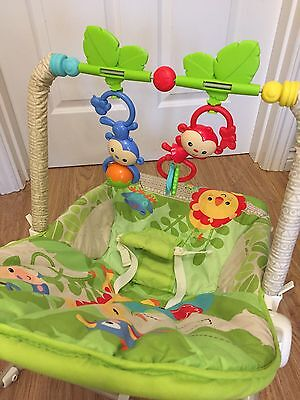Fisher Price Rainforest Friends Baby Infant To Toddler Rocker Chair Bouncer Seat
