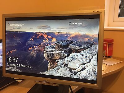 """** Acer TFT PC Flat LCD Monitor Screen 21"""" AL1916W - Perfect Condition**"""