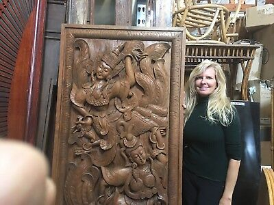 Carved Mahogany Wood Doors