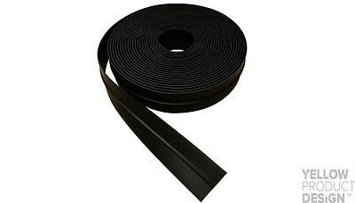 Weather Stop Garador Garage Door Thermoplastic Side Seal & Fixings -WS016 -Black