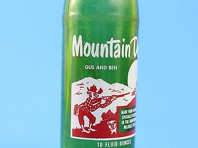 Vintage 1960s Mountain Dew Hillbilly Bottle 10 oz Filled By: Gus and Ben