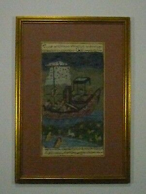 Great 19th C. Persian Or Indo-Pak Handpainted Miniature Painting