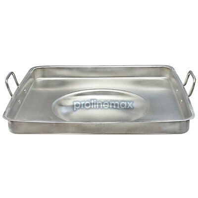 20'' x 20'' SQUARE Concave Stainless Steel Comal Griddle Pan Grill Fry Tray Cook