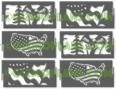 DXF Files USA Theme Hex Fire Pit CNC Plasma Laser dxf Images Vector cnc art