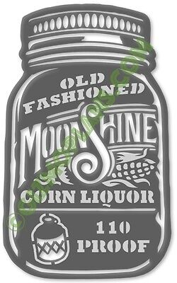 DXF Files MOONSHINE CORN LIQUOR SIGN CNC Plasma Laser Art dxf Images