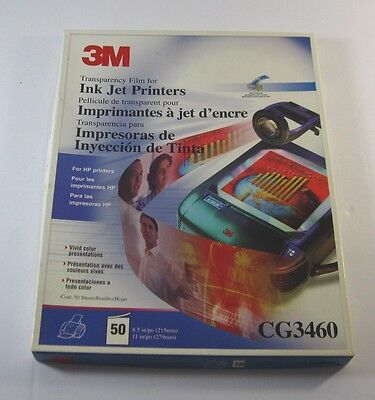 3M Transparency Film for Ink Jet Printers ~  #CG3460 ~ Opened Box ~ 46 Sheets