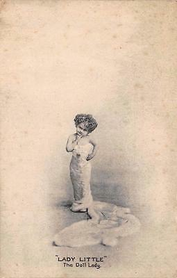 Postcard Vintage LADY LITTLE The Doll Lady by Lilywhite Co. #144
