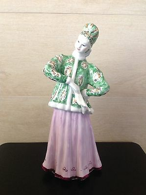 Vintage Russian Porcelain Hand Painted Figurine