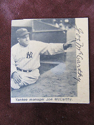 "Joe McCarthy Autographed B/W Magazine Paper Clipping - Hall of Fame ""Old Marse"""