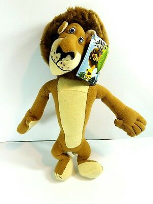 "Madagascar Plush Stuffed Animal - Alex The Lion 11"" With Tag"
