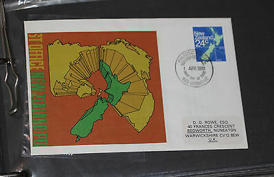 New Zealand Map 24C Stamp Cover. Fdc.