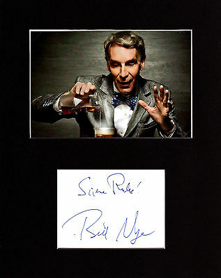 Bill Nye The Science Guy Autographed Mat Piece! Evolution! Science Icon! Rare!