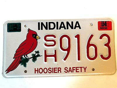 2004 Indiana Hoosier Safety License Plater ~ Cardinal