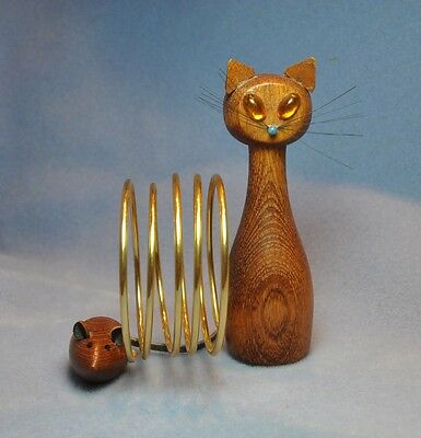 Vintage Cat and Mouse Desktop Letter and Accessory Holder