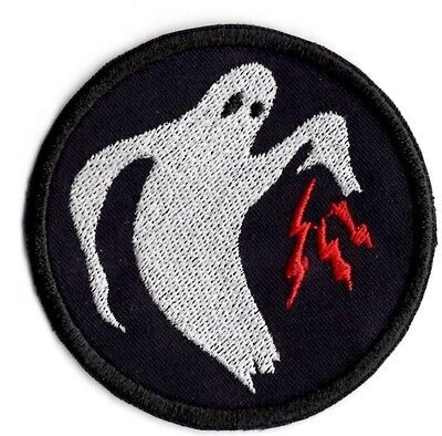 Ghost Army Circle Inspired Ghost lightning applique patch Iron/sew on