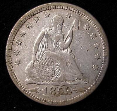 1853 Seated Liberty Quarter -  Xf Details #16140