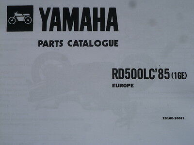 Yamaha Rd 500 Lc 47X 1Ge Parts List Manual Catalogue Rz 500 25 1Ge 300E1