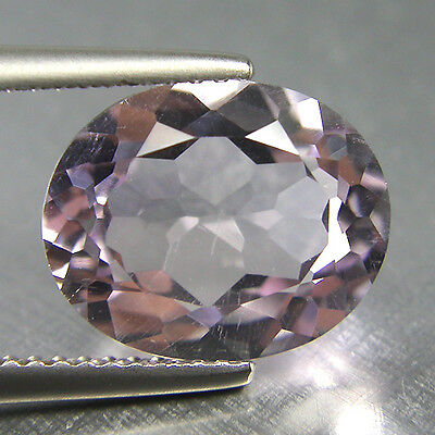 3.83Cts Natural Pink Kunzite Oval 11.50x9.35x5.55MM Loose Gemstone
