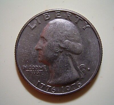 USA 1976 Quarter Dollar...200 years of Independence, Circulated  nearly UNC