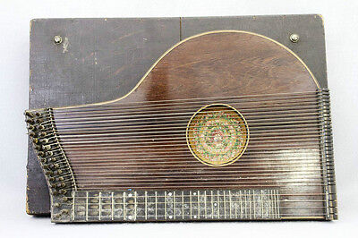 Antique Zither  String Instrument Case Hand Made Quilt Cover