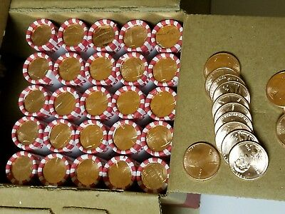 25 Rolls W/Stray Coins 2017-D Penny Bank Rolls, Unsearched. Uncirculated Lincoln