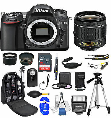 Nikon D7100 DSLR Camera + AF-P 18-55mm 3 Lens + 32GB + Value Bundle