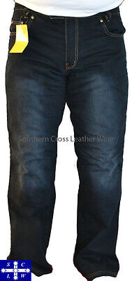 Black Denim Dirty Wash Men's Motorcycle Jeans with Meshed Lining