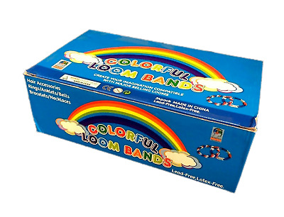 24 x  Pk of 300 Colorful Loom Bands Rubber Band  BULK LOTS NEW