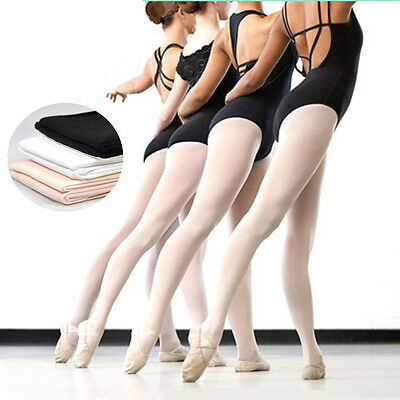 Unisex Hosiery Pantyhose Ballet Dance Stocking Footed Socks Tights 3 Colors